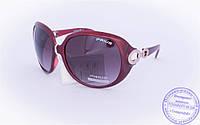 Оптом женские солнцезащитные очки - Бордовые - 3499, фото 1