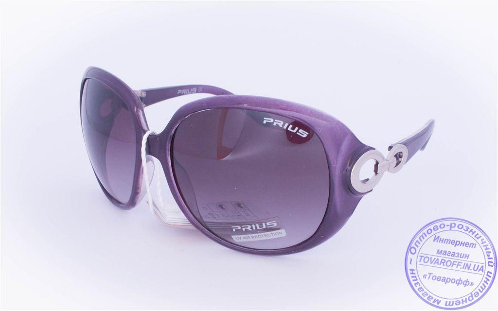 Оптом женские солнцезащитные очки - Фиолетовые - 3499