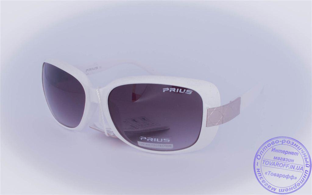 Оптом женские солнцезащитные очки - Белые - 3502