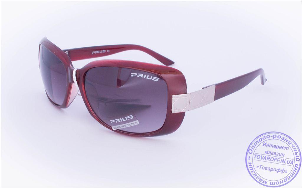 Оптом женские солнцезащитные очки - Бордовые - 3502
