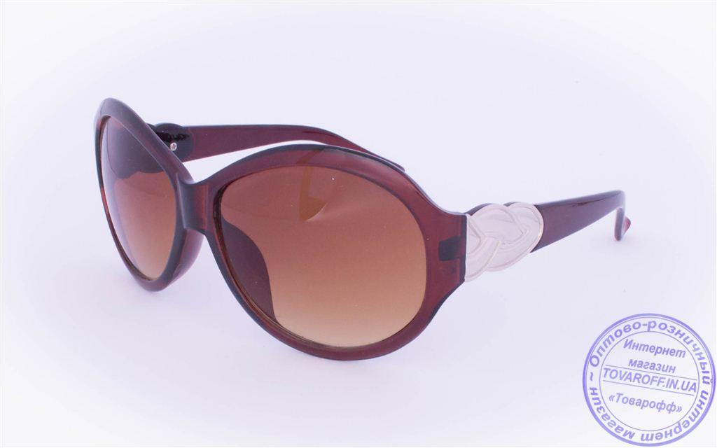 Жіночі сонцезахисні окуляри Оптом - Коричневі - T-9
