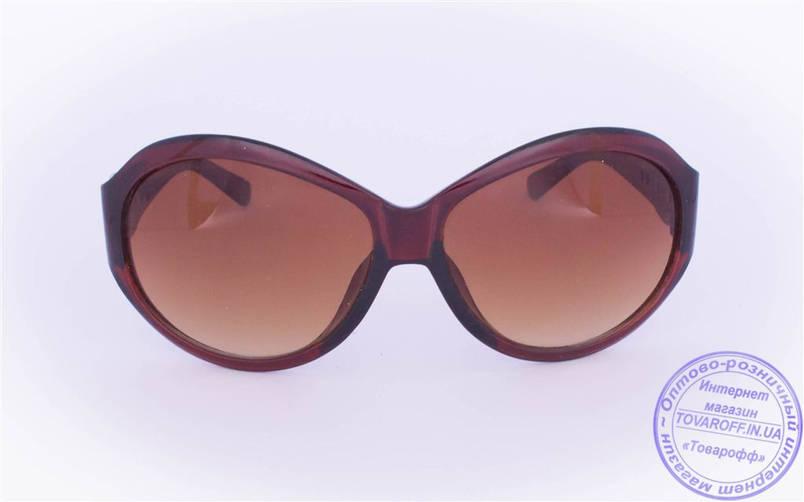 Жіночі сонцезахисні окуляри Оптом - Коричневі - T-9, фото 2