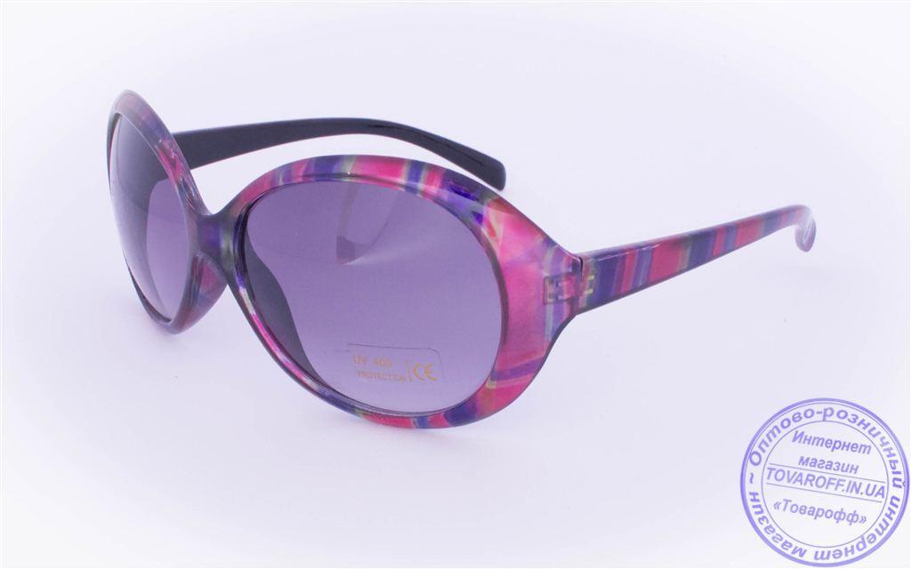 Оптом женские солнцезащитные очки - Розовые - 8910