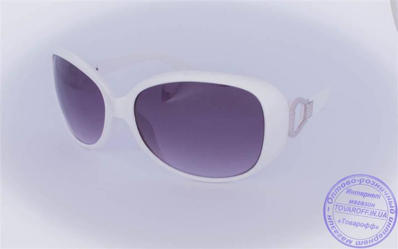 Жіночі сонцезахисні окуляри Оптом - Білі - 9043-9936, фото 2