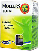 Витамины Mollers Total Omega-3 Vitaminer+Mineraler (56 капсул)
