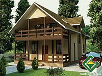 Строительство дома из сип панелей 128,85 м.кв., «СЮЗИ 2»
