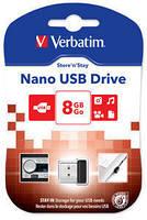 USB Flash Drive 8Gb Verbatim Store'N'Stay Nano Black  97463
