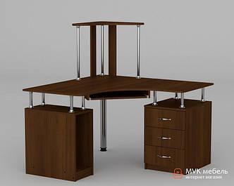 Угловой компьютерный стол с полками СУ - 6 new
