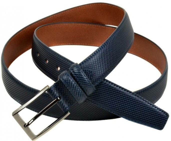 Завораживающий мужской кожаный ремень E352508 blue