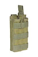 """Подсумок открытый для одного магазина АК/М16 MOLLE """"RMBP-1"""" (Rifle Mag Bunji Pouch), фото 1"""
