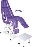 Педикюрно-косметологическое кресло КП-3 с гидравлическим регулятором высоты, с подставкой для ванночки