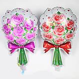 """Фольгированный  шар """"Букет роз""""-красный, фото 2"""