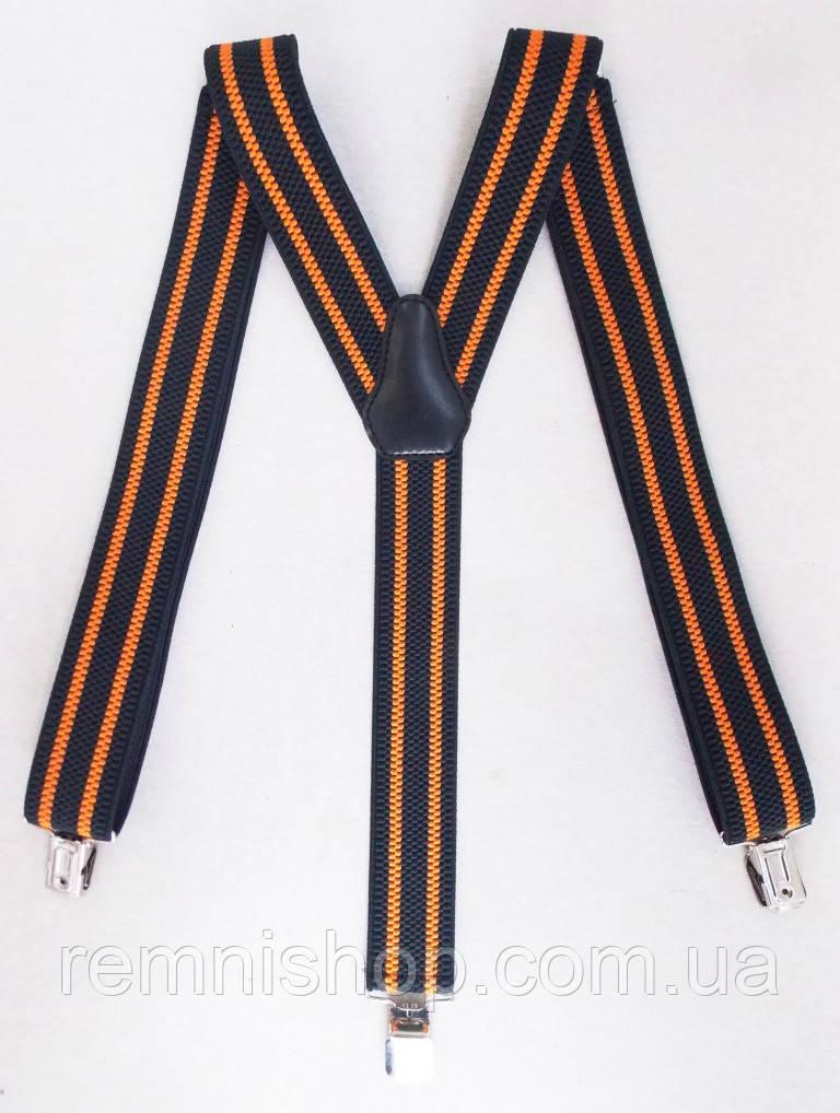 Черно-оранжевые мужские подтяжки
