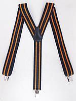 Черно-оранжевые мужские подтяжки, фото 1