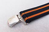 Чорно-помаранчеві чоловічі підтяжки, фото 2