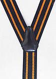 Чорно-помаранчеві чоловічі підтяжки, фото 3
