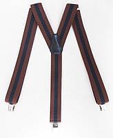 Мужские подтяжки черно-коричневые, фото 1