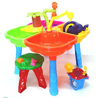 Песочный столик с набором и стульчиком 01-121-1 Kinderway