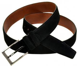 Превосходный мужской замшевый ремень E352504 black