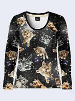 Лонгслив Коты в космосе