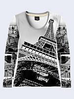 Лонгслив Черно-белый Париж