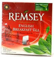 Чай черный английский завтрак REMSEY English Breakfast Tea 75 пакетиков Ремси