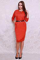 Модное молодежное платье из новой коллекции в ярком цвете с кармашками