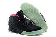 Женские кроссовки Nike Air Yeezy 2 Найк Аир Изи 2 черные
