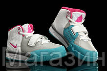 Женские кроссовки Nike Air Yeezy 2 (Найк Аир Изи 2) белые, фото 3