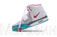 Женские кроссовки Nike Air Yeezy 2 (Найк Аир Изи 2) белые, фото 2