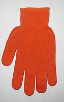 Перчатки трикотажные с ПВХ точкой оранжевые, фото 1