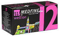 Иглы Wellion MEDFINE plus для шприц-ручек 0,33мм (29G)*12мм