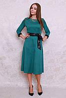 Элегантное молодежное платье длины миди с расклешенным низом из новой коллекции