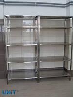 Стелаж виробничий з нержавіючої сталі 1000х600х1800