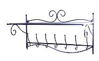 Кованая вешалка на стену