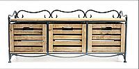 Кованая этажерка (полка металлическая) 3 горизонтальная