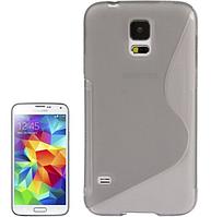 Силиконовый серый чехол S Line для Samsung Galaxy S5