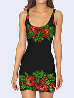 Платье Украинский цветочный принт