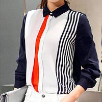 Строгая блузка в полоску, фото 1