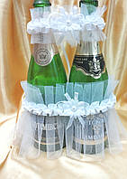 Украшения на шампанское (белое)