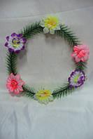 Венок круг с цветами (10 шт в уп)