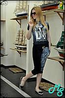 Принтовый женский летний костюм YSL