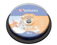 Диск VERBATIM DVD-R 8cm Inkjet Printable 1,4Gb 4x  Cake 10шт. 43573