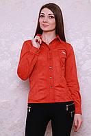 Оригинальная молодежная блуза-рубашка из замши в яркой весенней расцветки