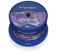 Диск VERBATIM DVD+R Matt Silver 4,7Gb 16x  Cake 50шт.  43550