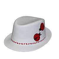 """Детская шляпа Джокер-мини нашивки """"Божья коровка""""."""