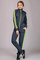 Трикотажный женский спортивный костюм Classic №2 (темно-серый)