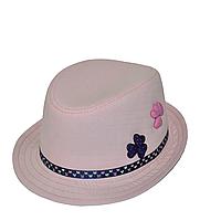 """Детская шляпа оптом Джокер-мини нашивки """"Сердечки""""."""