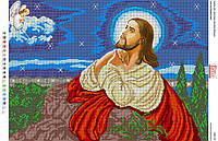 """Схема для вышивки бисером """"Иисус на оливковой горе"""""""