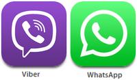 Viber и WhatsApp для связи с консультантами Интернет-магазина